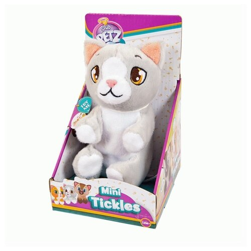 Купить Интерактивная мягкая игрушка Club Petz Mini Tickles Котенок серый, Роботы и трансформеры
