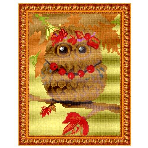 Светлица Набор для вышивания бисером Осенняя совушка 19 х 24 см, бисер Чехия (492П)
