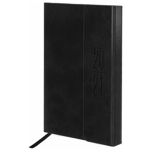 Купить Ежедневник BRAUBERG Towny датированный на 2021 год, искусственная кожа, А5, 168 листов, черный, Ежедневники, записные книжки