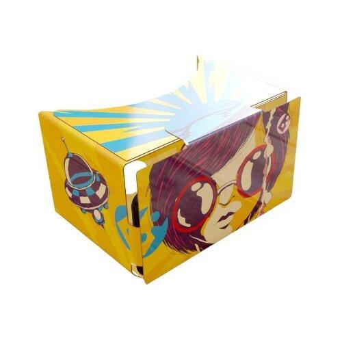 Очки виртуальной реальности для смартфона Boxglass Очки VR Cardboard, желтый/синий