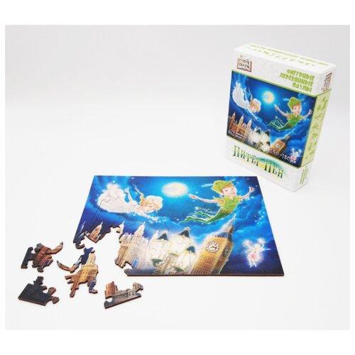 Купить Страна Сказок Фигурный деревянный пазл Питер Пэн , Нескучные игры, Пазлы