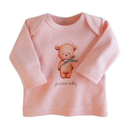 Купить Лонгслив Наша мама, размер 68, розовый, Футболки и рубашки