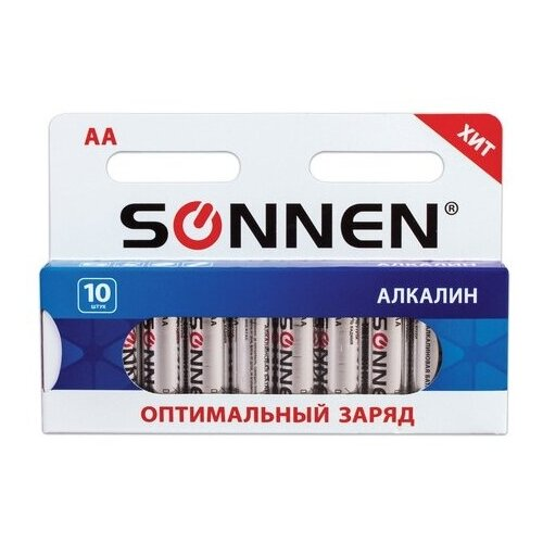 Фото - Батарейка SONNEN AA LR6 оптимальный заряд, 10 шт. батарейка sonnen cr2032 1 шт блистер