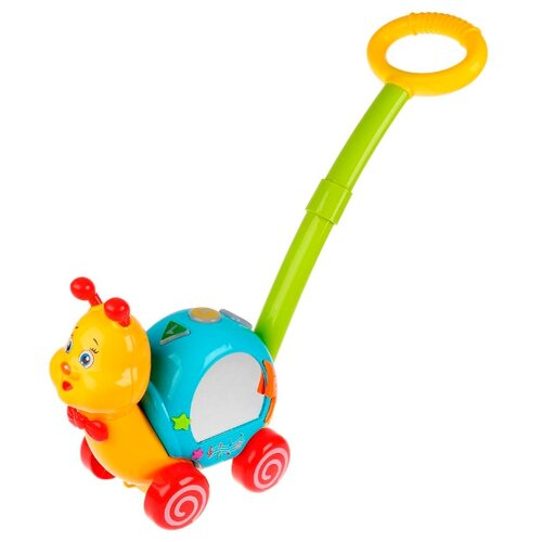 Купить Каталка-игрушка Умка Улитка (L1131-R) желтый/синий, Каталки и качалки