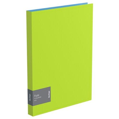 Купить Berlingo Папка на 4-х кольцах Fuze А4, 25 мм, 600 мкм, пластик салатовый, Файлы и папки