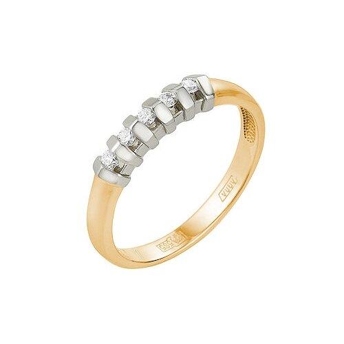 Мастер Бриллиант Кольцо с 5 бриллиантами из красного золота 1-104-814, размер 19 лукас кольцо с 6 бриллиантами из красного золота r01 d rr01008adi r17 размер 16 5