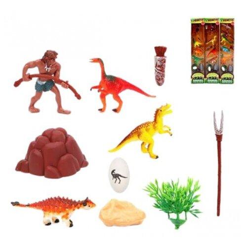 Купить Игровой набор Каменный век, фигурки 4 шт., аксессуары Наша Игрушка 807-3, Наша игрушка, Игровые наборы и фигурки