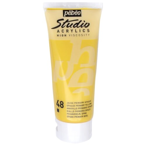 Pebeo Краска акриловая Studio Acrylics, 100 мл желтый pebeo краска акриловая decocreme кремовая матовая 120 мл 04 желтый