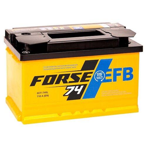 Автомобильный аккумулятор Forse EFB 6СТ-74VL аккумулятор forse 6ст 65vl jis о п