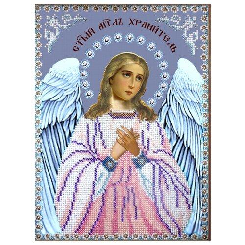 Купить Вышиваем бисером Набор для вышивания бисером Ангел Хранитель 19 х 26 см (L-85), Наборы для вышивания