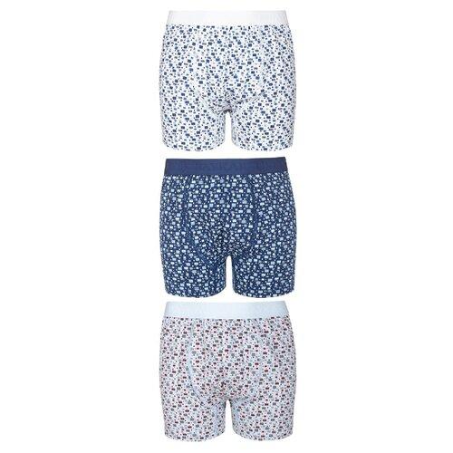 Купить Трусы BAYKAR 3 шт., размер 170/176, белый/серый/синий, Белье и пляжная мода