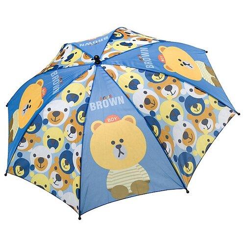 Зонт BONDIBON синий/коричневый