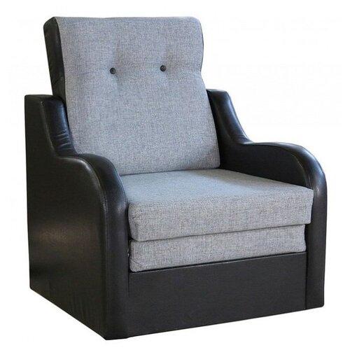 Кресло-кровать Шарм-Дизайн Классика В размер: 80х83 см, , размер спального места: 199х62 см, обивка: комбинированная, цвет: шенилл серый
