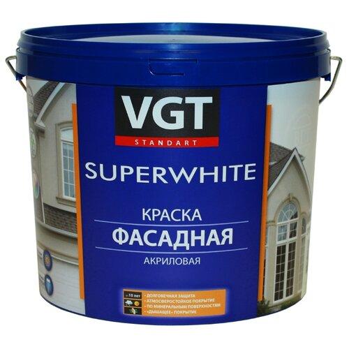 Фото - Краска акриловая VGT ВД-АК-1180 фасадная Супербелая влагостойкая матовая бесцветный 2.5 кг краска акриловая alpina долговечная фасадная влагостойкая матовая бесцветный 2 35 л