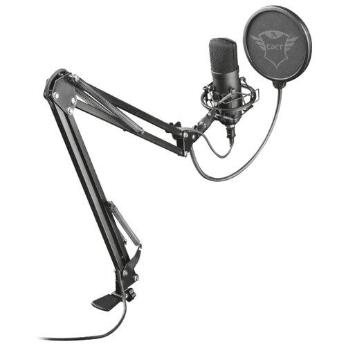Микрофон Trust GXT 252+ Emita Plus черный микрофон trust gxt usb