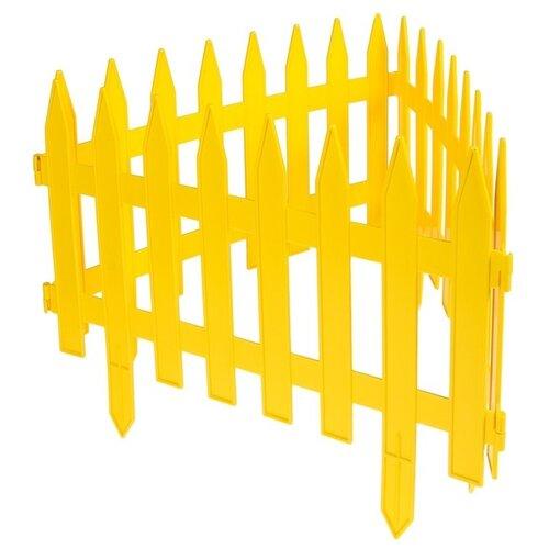 Забор декоративный Гарденпласт GOTIKA, желтый, 1.8 х 0.35 м