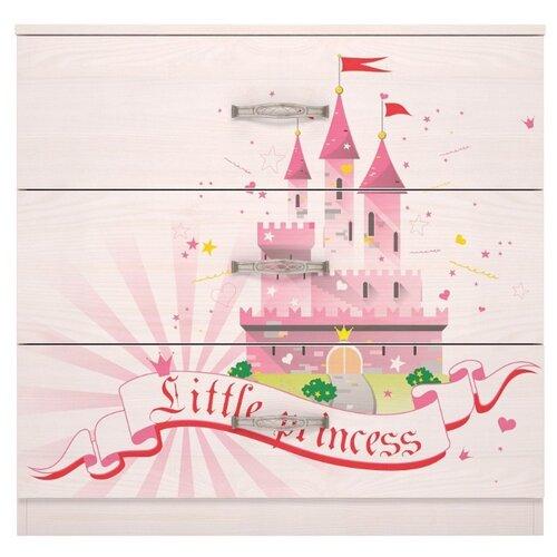 Купить Бельевой комод Ижмебель Принцесса 3 лиственница, Детские комоды