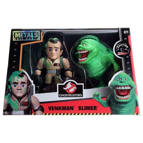 Купить Набор фигурок металлических Ghostbusters: Venkman & Slimer (10 см), Jada Toys, Игровые наборы и фигурки
