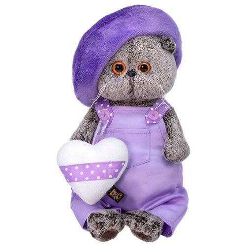 Купить Мягкая игрушка Basik&Co Кот Басик в лиловом 19 см, Мягкие игрушки