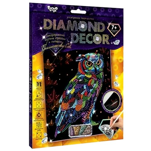 Купить Danko Toys Набор алмазной вышивки Diamond Decor Сова (DD-01-09), Алмазная вышивка