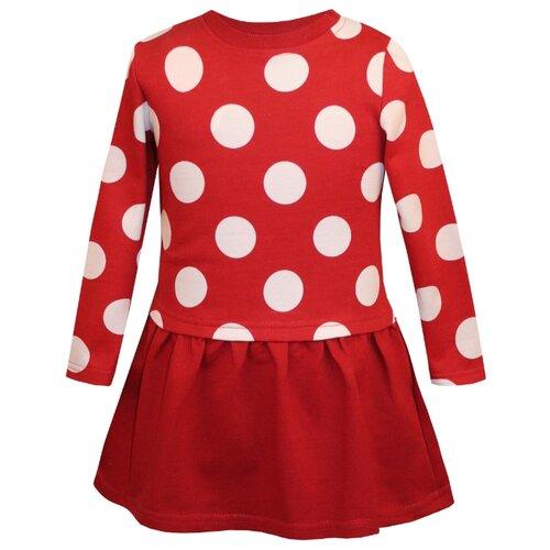 Купить Платье KotMarKot размер 128, красный, Платья и сарафаны
