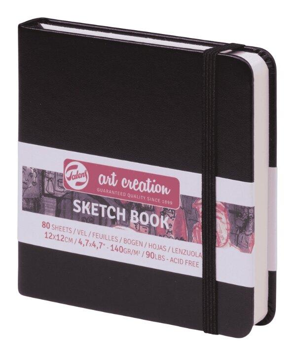 """Блокнот для эск. и зарис. 80л. 120*120мм 7БЦ """"Art Creation. Красный"""", 140г/м2,на резинке,ляссе (арт. 284360)"""