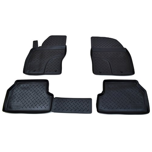 Комплект ковриков NorPlast NPL-Po-22-16 4 шт. чёрный