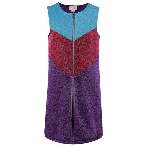Платье GUCCI размер 152, разноцветный/фиолетовый/бордовый