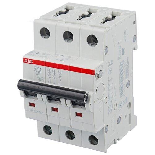 Автоматический выключатель ABB S203 3P (C) 6kA 63 А автоматический модульный выключатель abb 2п c sh202l 4 5ка 16а 2cds242001r0164