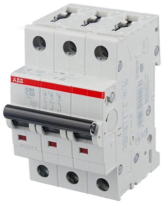 Автоматический выключатель ABB S203 3P (C) 6kA