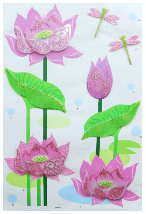 Декоративная наклейка, для украшения интерьеров детских комнат, гостиных, спален, предметов мебели, арт. GFA-1004