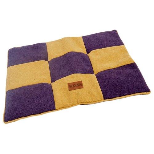 Лежак для собак и кошек Katsu Kern M 85х65х5 см фиолетовый/желтый