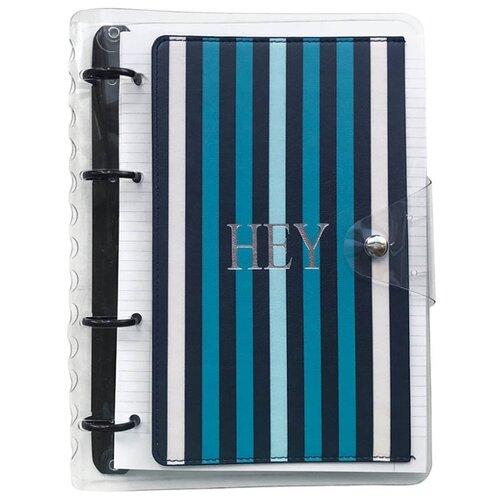 Купить InFolio Тетрадь Pocket. Полосы, клетка, 120 л., прозрачный/черный/голубой, Тетради