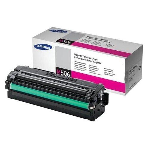 Фото - Картридж лазерный SAMSUNG (CLT-M506L) CLP-680/CLX-6260, оригинальный, пурпурный, ресурс 3500 стр. картридж лазерный samsung clt m508l пурпурный 400