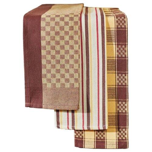 Primavelle Набор полотенец 3 шт кухонное коричневый