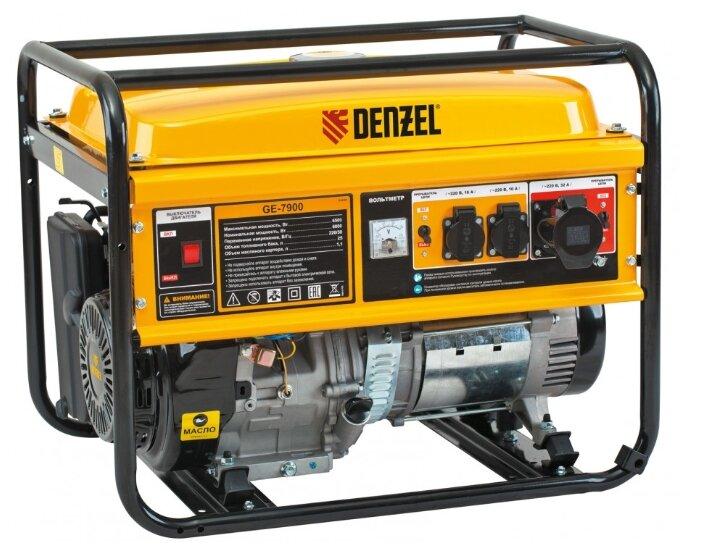 Бензиновый генератор Denzel GE7900 (6000 Вт)