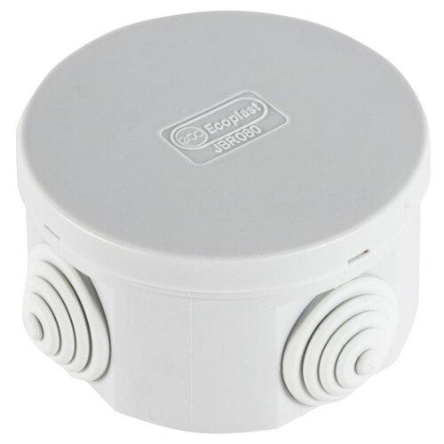Распределительная коробка Ecoplast JBR080 (44005) наружный монтаж 80x80 мм RAL 7035