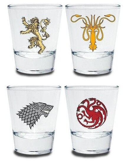 Набор стопок ABYstyle Game of Thrones emblem 50 мл, 4 шт