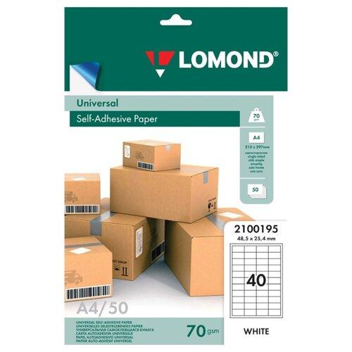 Бумага Lomond A4 2100195 70 г/м² 50 лист. белый 1 шт.