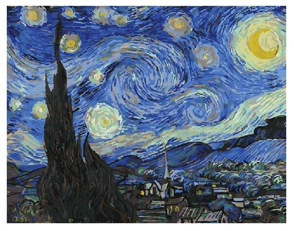 """ВанГогВоМне Картина по номерам """"Звездная ночь. Ванг Гог"""", 40х50 см (ZX 20221)"""
