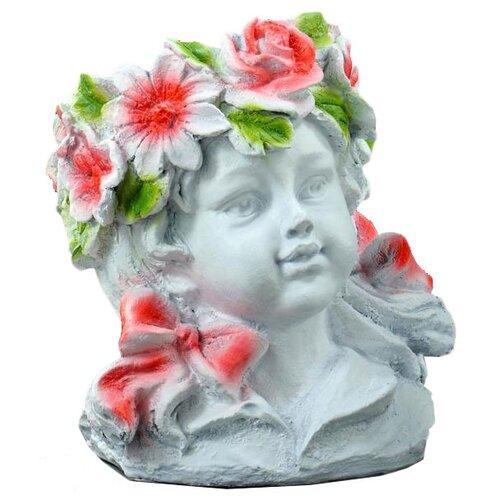 Ваза Хорошие сувениры Девочка - цветочек (5312208/5312209), белый/розовый