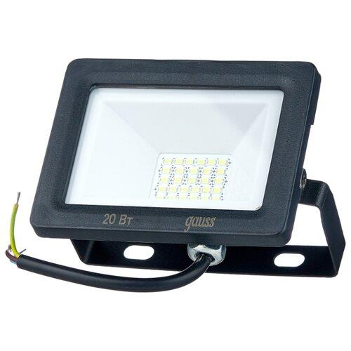 Прожектор светодиодный 20 Вт gauss 613100320 LED IP65 6500К