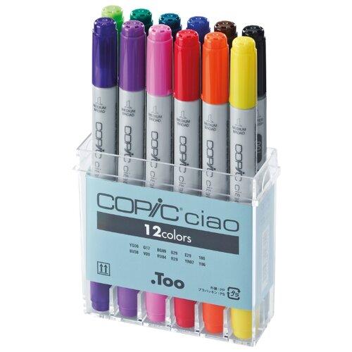 Купить COPIC набор маркеров Ciao (H22075312), 12 шт., Фломастеры и маркеры