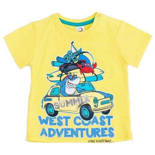 Купить Футболка Pixo, размер 86, желтый/голубой, Футболки и рубашки