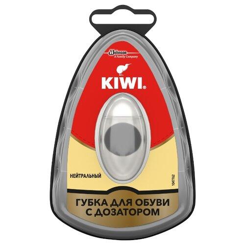 Kiwi Express Shine губка с дозатором бесцветная губка для обуви kiwi express shine с дозатором цвет коричневый 7 мл