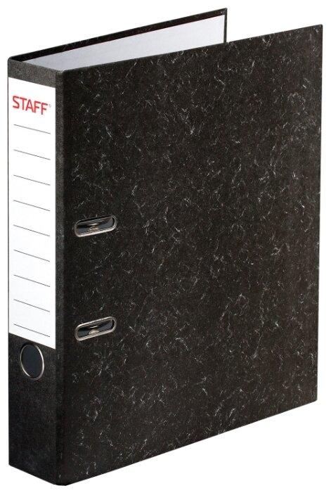 Купить STAFF Папка-регистратор Everyday А4, мрамор, 50 мм черный под мрамор по низкой цене с доставкой из Яндекс.Маркета (бывший Беру)