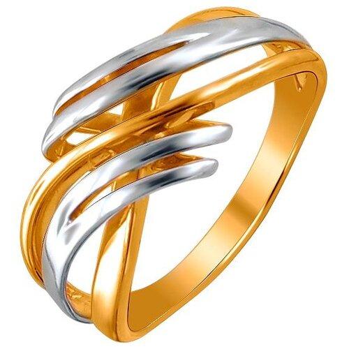 Эстет Кольцо из серебра с позолотой 01К056029АР, размер 17.5 ЭСТЕТ