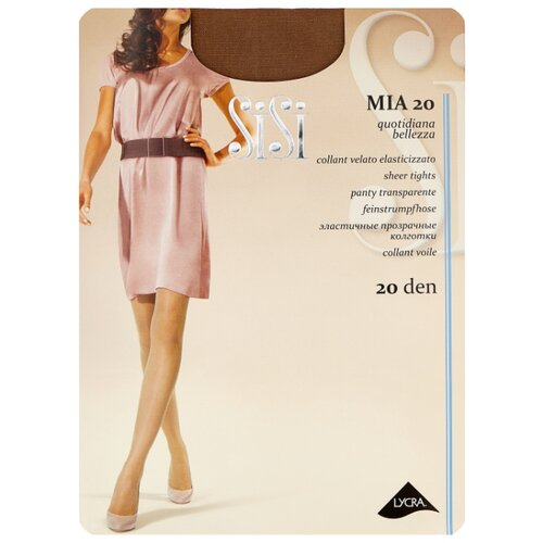 Колготки Sisi Mia 20 den, размер 5-MAXI XL, daino (коричневый) колготки sisi activity 70 den размер 5 maxi xl daino коричневый
