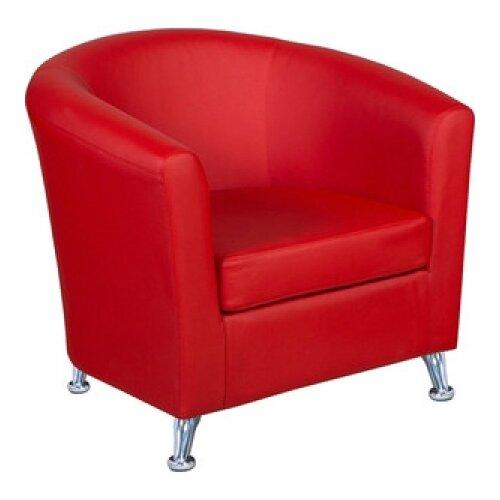 Кресло Шарм-Дизайн Евро размер: 80х79 см, обивка: искусственная кожа, цвет: красный платье oodji ultra цвет красный белый 14001071 13 46148 4512s размер xs 42 170
