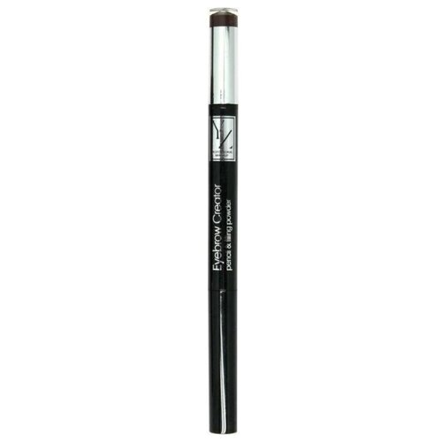 Yllozure карандаш+пудра Eyebrow Creator pencil & filing, оттенок dark brown недорого